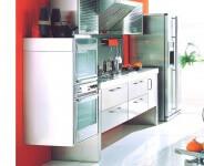 Arca Cucine Italia - Cucina Domestica in Acciaio Inox - Spring - Rialzata