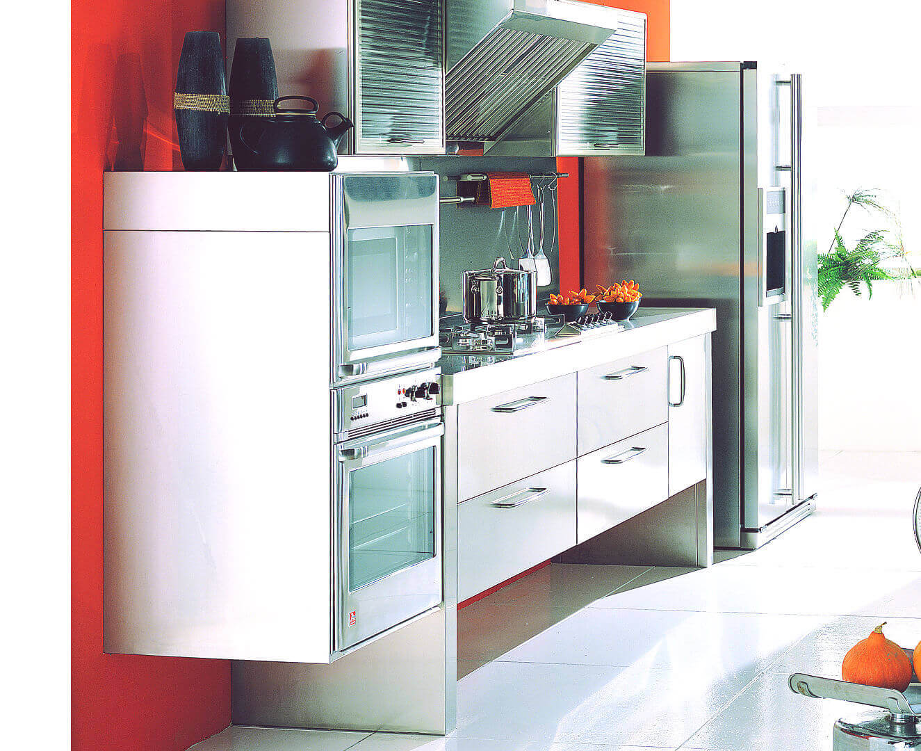 Arca Cucine Italy - Home Kitchen Stainless Steel - Spring - raised