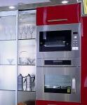 Arca Cucine Italia - Cucina Domestica in Acciaio Inox e Vetro - Opera - Colonna Forni