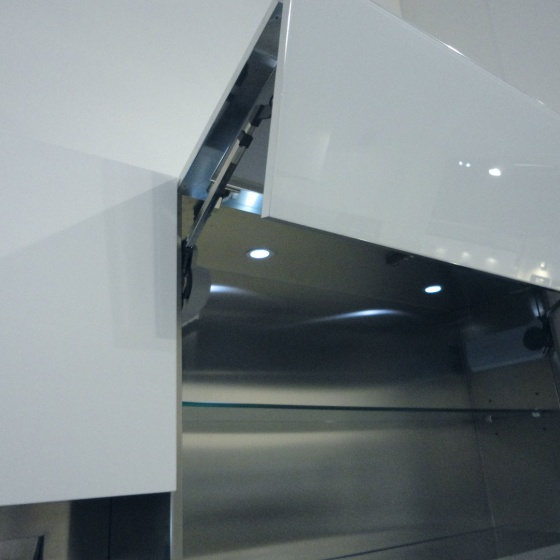 Arca Cucine Italy - Domestic stainless steel kitchens - Accessories - Bi-Fold Door With Automatic Opening 021