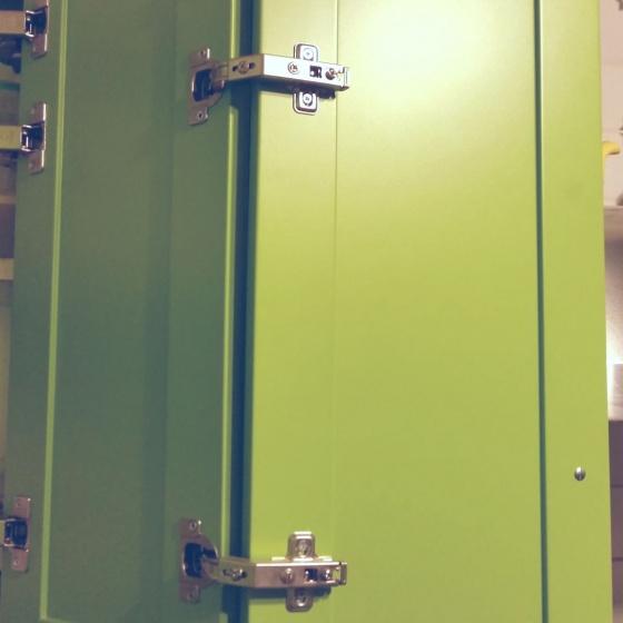 Arca Cucine Italy - Domestic stainless steel kitchens - Accessories - Corner Door 002