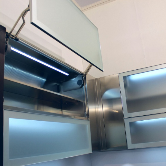 Arca Cucine Italy - Domestic stainless steel kitchens - Accessories - Vertical Automatic Opening Door 5 077