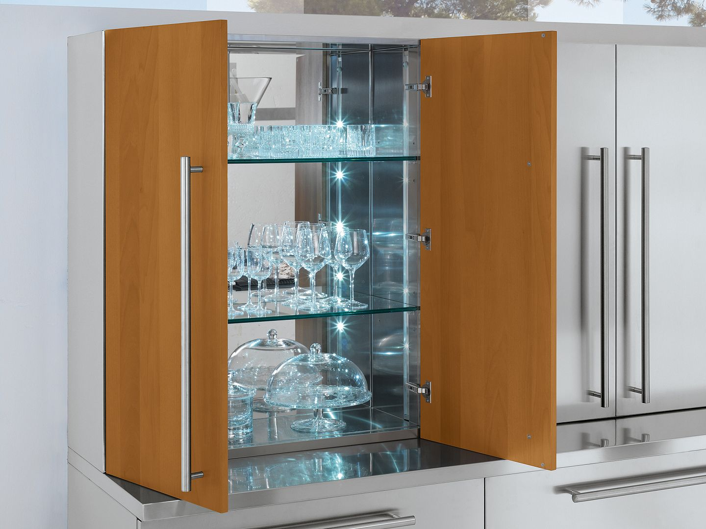 Arca Cucine Italy - Domestic stainless steel kitchens - Accessories - Crystals closet 1920