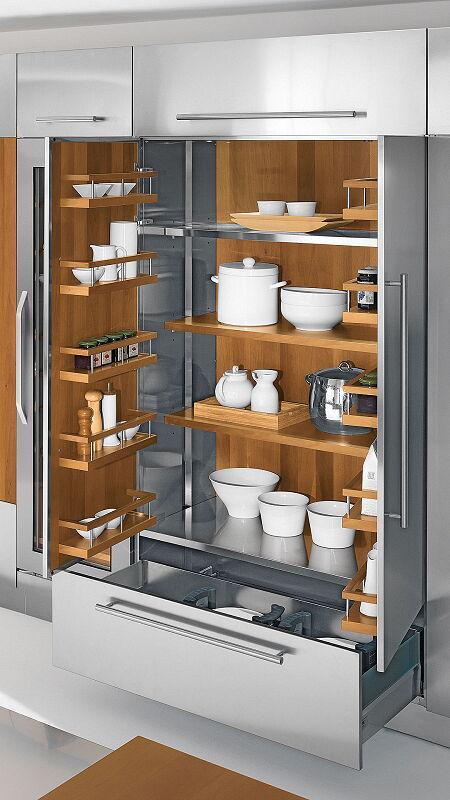Arca Cucine Italia Cucine Domestiche Acciaio Inox Accessori Armadio In Acciaio Con Ripiani In Legno 1