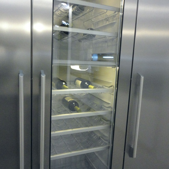 Arca Cucine Italy - Domestic stainless steel kitchens - Accessories - Stainless Wine Cooler 016
