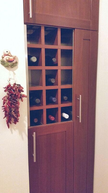 Arca Cucine Italia Cucine Domestiche Acciaio Inox Accessori Cantinetta Porta Bottiglie Interno In Accaio Esterno In Legno 005 1