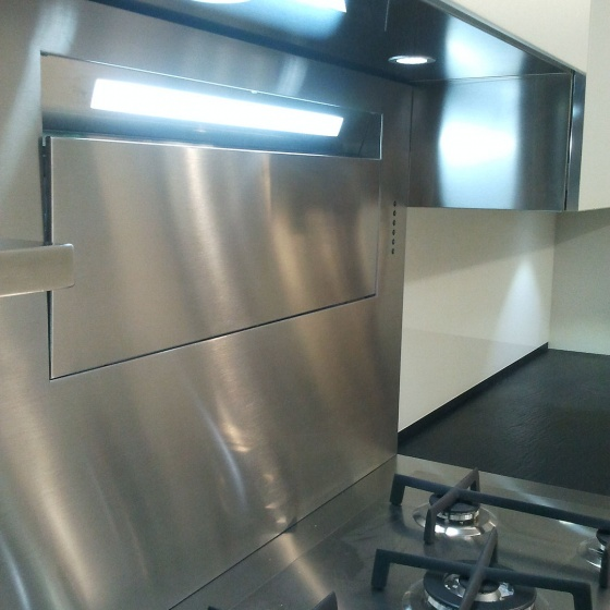 Arca Cucine Italy - Domestic stainless steel kitchens - Accessories - Wall Hood 2 024