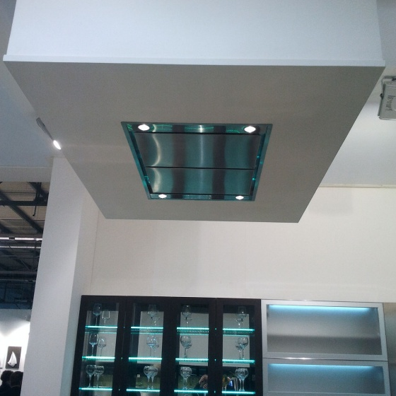 Arca Cucine Italy - Domestic stainless steel kitchens - Accessories - Ceiling Hood 023