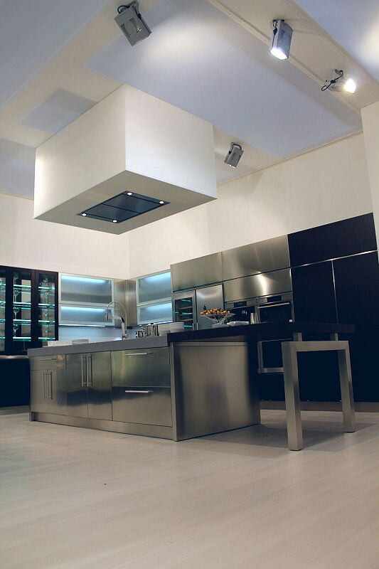 Ark Kitchens Italian Kitchens Milf Stainless Steel Accessories Hood Ceiling 3 063