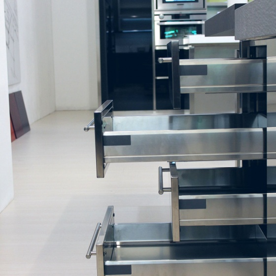 Arca Cucine Italy - Domestic stainless steel kitchens - Accessories - Stainless Steel Tool Chest 2 062