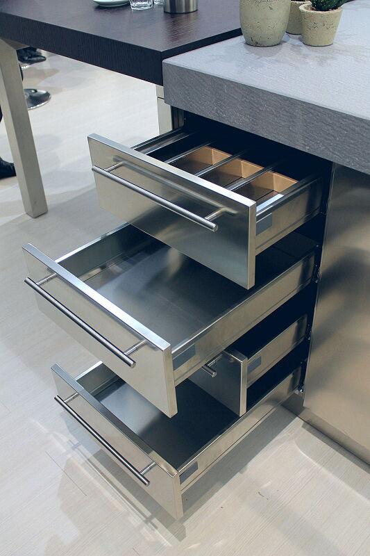 Arca Cucine Italia Cucine Domestiche Acciaio Inox Accessori Cassettiera Inox 3 061