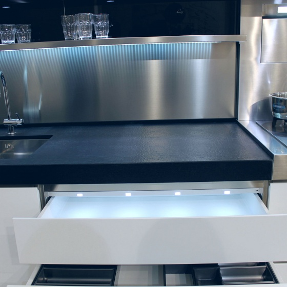 Arca Cucine Italy - Domestic stainless steel kitchens - Accessories - Tray With Led Lighting 056