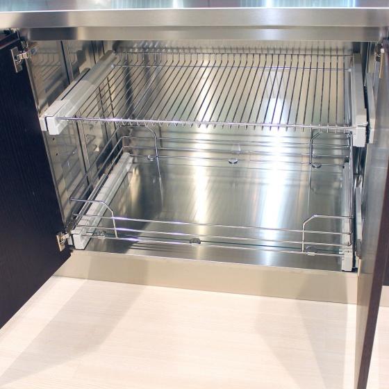 Arca Cucine Italia - Cucine Domestiche Acciaio Inox - Accessori - Cesti Interni Estraibili Con Fondo Ripiano O In Filo D'acciaio E Chiusura Ammortizzata 2 053