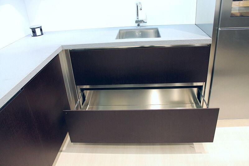 Arca Cucine Italia Cucine Domestiche Acciaio Inox Accessori Cestone Ad Estrazione Totale 047