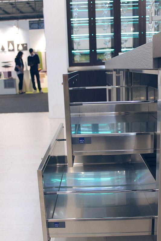 Arca Cucine Italia Cucine Domestiche Acciaio Inox Accessori Cestoni Ad Estrazione Totale In Acciaio Inox 042