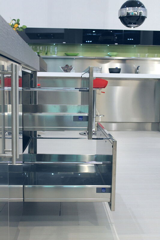 Ark Kitchens Italian Kitchens Milf Stainless Steel Accessories For Extraction Baskets Total Stainless Steel 2 043
