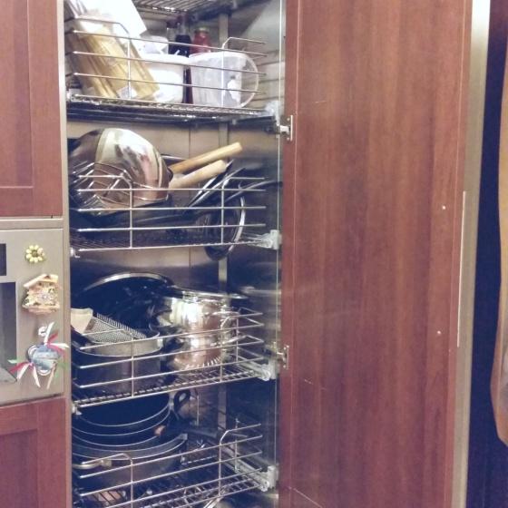Arca Cucine Italia - Cucine Domestiche Acciaio Inox - Accessori - Colonna Con Cestelli Estraibili 004