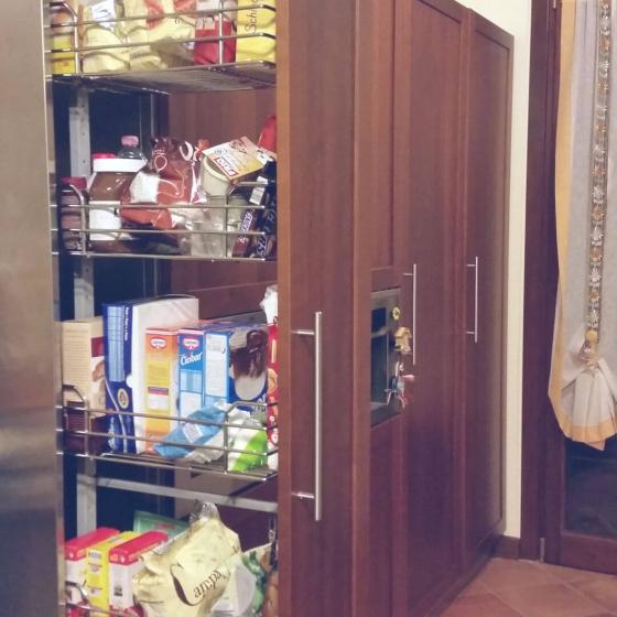 Arca Cucine Italia - Cucine Domestiche Acciaio Inox - Accessori - Colonna Telescopica 5 Cesti 003