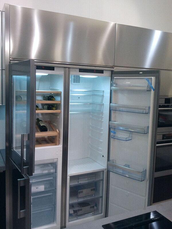 Arca Cucine Italia Cucine Domestiche Acciaio Inox Accessori Combinazione Side By Side Frigorifero Congelatore Cantinetta 016_1