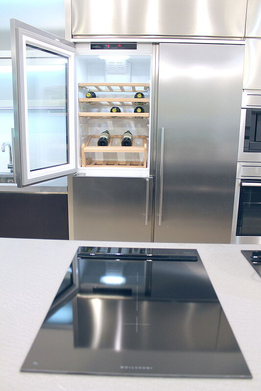 Ark Kitchens Italian Kitchens Milf Stainless Steel Accessories Combination Side By Side Fridge Freezer Wine cellar 4 037