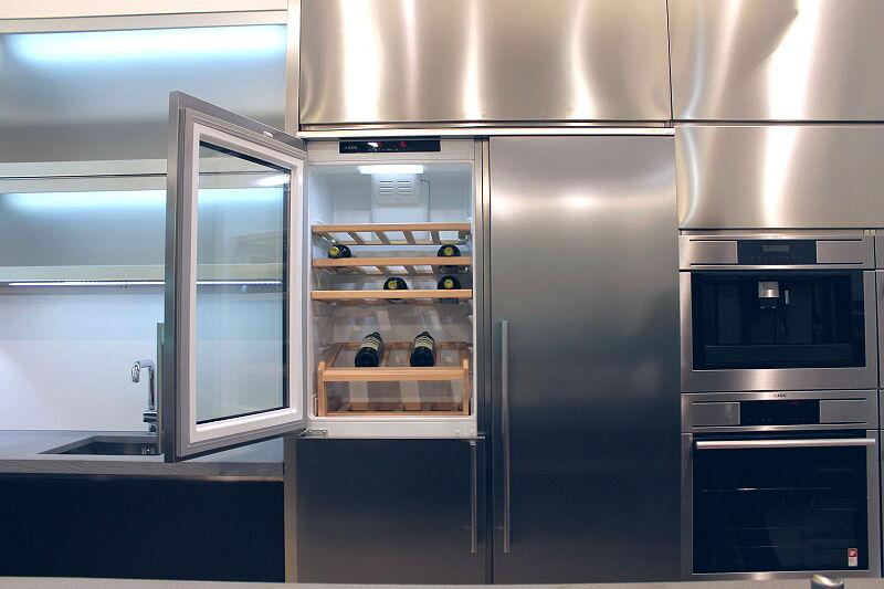 Arca Cucine Italia Cucine Domestiche Acciaio Inox Accessori Combinazione Side By Side Frigorifero Congelatore Cantinetta 5 036