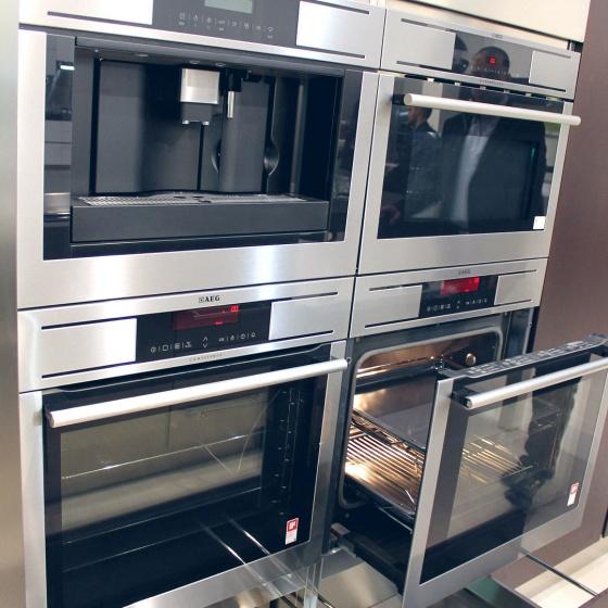 Arca Cucine Italia - Cucine Domestiche Acciaio Inox - Accessori - Composizione Forni Microonde e Macchina Caffè