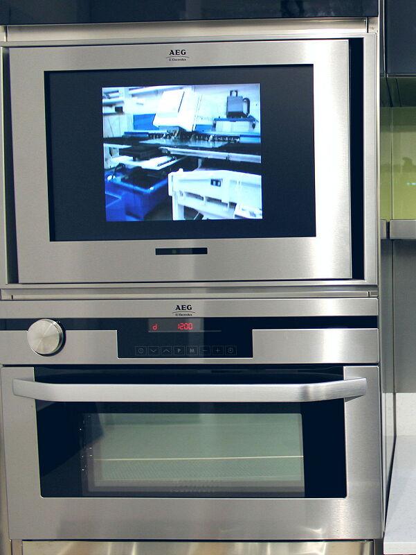 Ark Kitchens Italian Kitchens Milf Stainless Steel Accessories Composition Column Oven TV 035 1