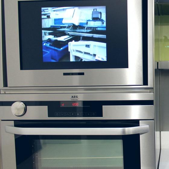 Arca Cucine Italia - Cucine Domestiche Acciaio Inox - Accessori - Composizione Colonna Forno + Tv 035