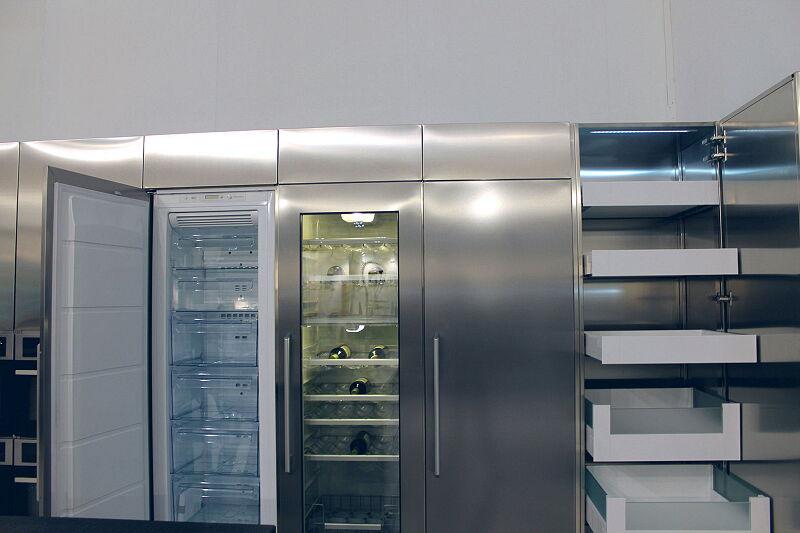 Arca Cucine Italia Cucine Domestiche Acciaio Inox Accessori Frigorifero E Cantinetta Da Incasso 033 1