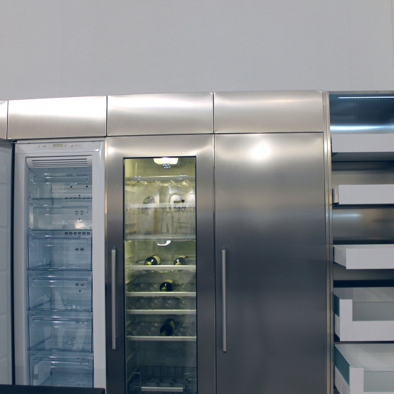 Arca Cucine Italy - Domestic stainless steel kitchens - Accessories - Refrigerator And Built-in Wine Cellar 033