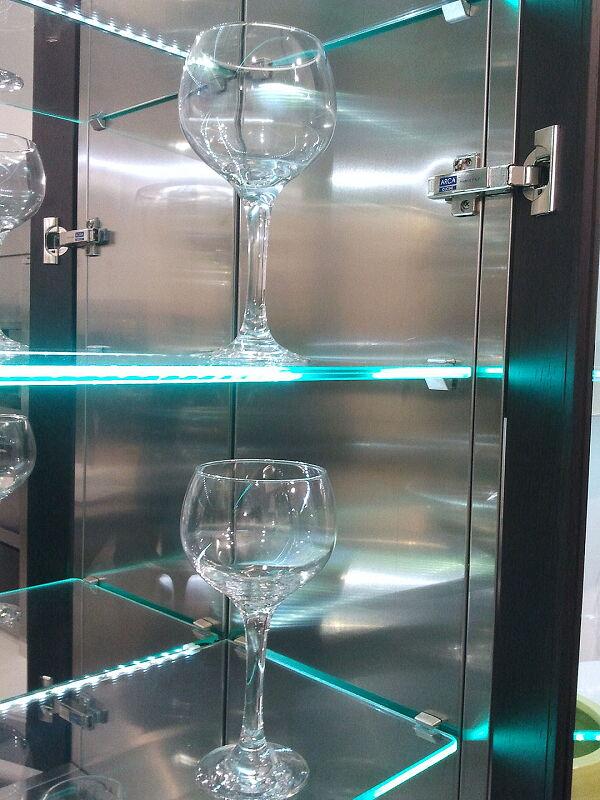 Arca Cucine Italia Cucine Domestiche Acciaio Inox Accessori Illuminazione Led E Ripiani In Vetro 013 1
