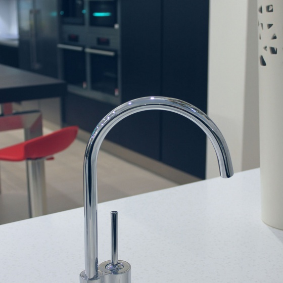 Arca Cucine Italy - Domestic stainless steel kitchens - Accessories - Sink Mixer, Barrel Swivel 360 023