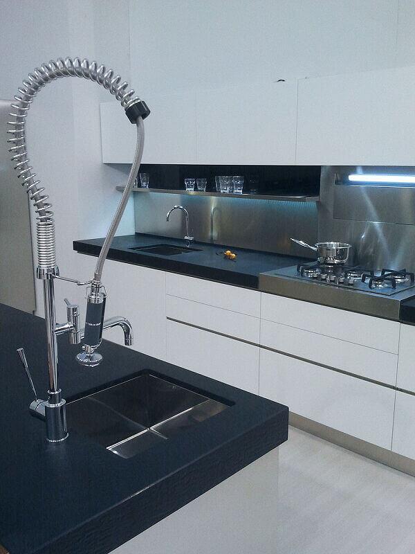Arca Cucine Italia Cucine Domestiche Acciaio Inox Accessori Miscelatore Monocomando Per Lavello Professionale Con Doccetta Estraibile 008_1