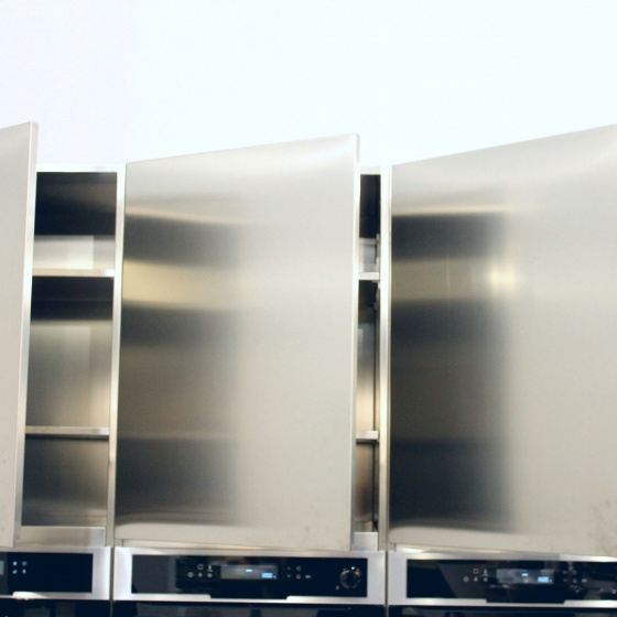 Arca Cucine Italy - Domestic stainless steel kitchens - Accessories - Hanging Totally Stainless Steel Aisi 304 2 022