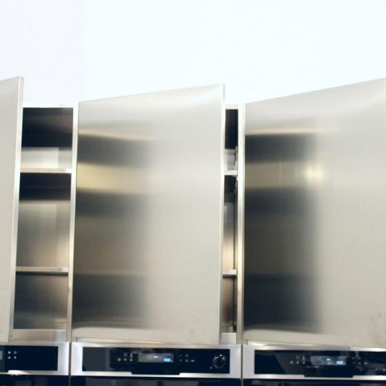 Arca Cucine Italia - Cucine Domestiche Acciaio Inox - Accessori - Pensili Totalmente Acciaio Inox Aisi 304 2 022