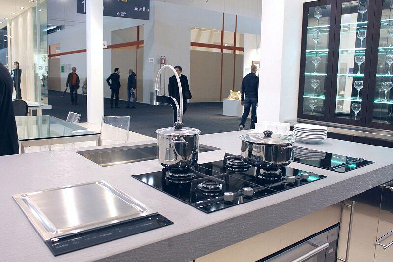 Arca Cucine Italia Cucine Domestiche Acciaio Inox Accessori Piano Cottura Combinato Induzione E Gas E Piastra 2 018