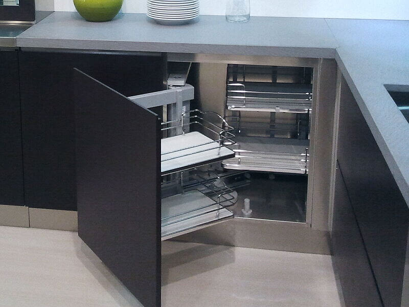 Ark Kitchens Italian Kitchens Milf Stainless Steel Accessories Removable Revolving shelves for furniture Corner units 006_1