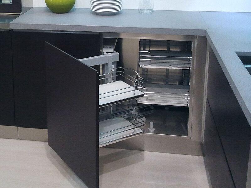 Arca Cucine Italia Cucine Domestiche Acciaio Inox Accessori Ripiani Girevoli Estraibili Per Mobili Ad Angolo 006_1