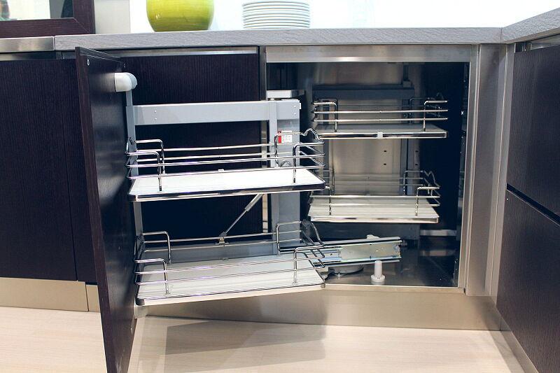 Arca Cucine Italia Cucine Domestiche Acciaio Inox Accessori Ripiani Girevoli Estraibili Per Mobili Ad Angolo 2 015