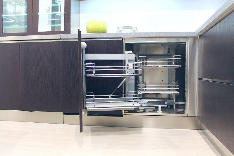 Arca Cucine Italia Cucine Domestiche Acciaio Inox Accessori Ripiani Girevoli Estraibili Per Mobili Ad Angolo 5 012 1