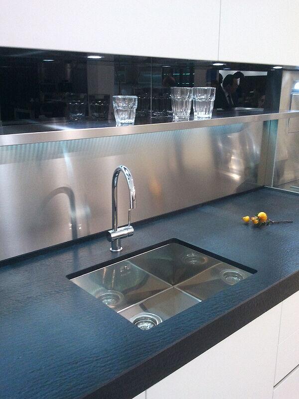 Arca Cucine Italia Cucine Domestiche Acciaio Inox Accessori Vasca Lavello Design 0 Mm 001