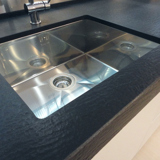 Arca Cucine Italy - Domestic stainless steel kitchens - Accessories - Bath Kitchen Sink Stainless Corners Live 001
