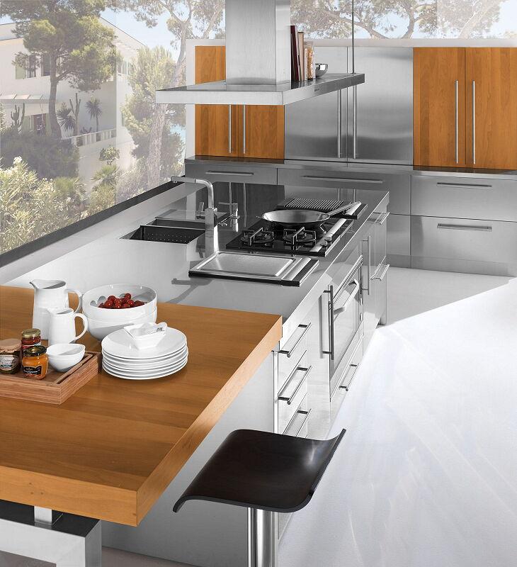 Arca Italian Kitchen Stainless Steel Kitchen Milf Island Barn Details