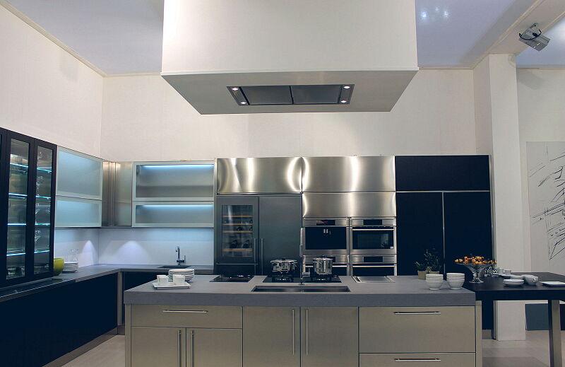 Arca Cucine Italia Cucine Domestiche Acciaio Inox Barn Nera 1500 225