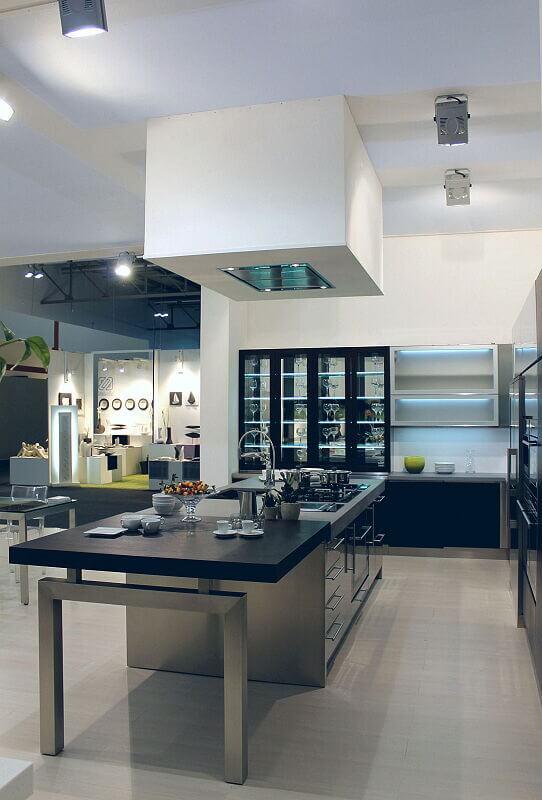 Arca Cucine Italia Cucine Domestiche Acciaio Inox Barn Nera 1507 222