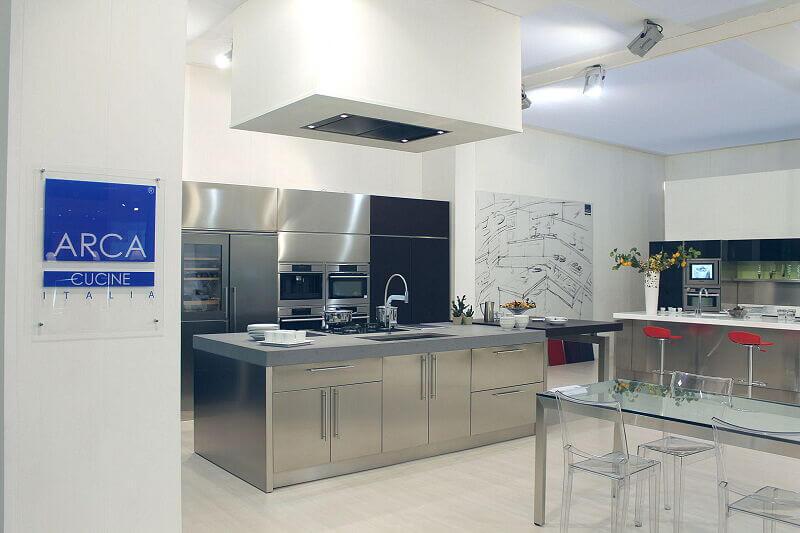 Arca Cucine Italia Cucine Domestiche Acciaio Inox Barn Nera 1626 187
