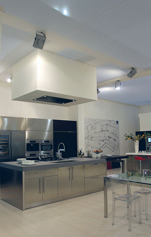 Ark Kitchens Italian Kitchens Milf Stainless Steel Black
