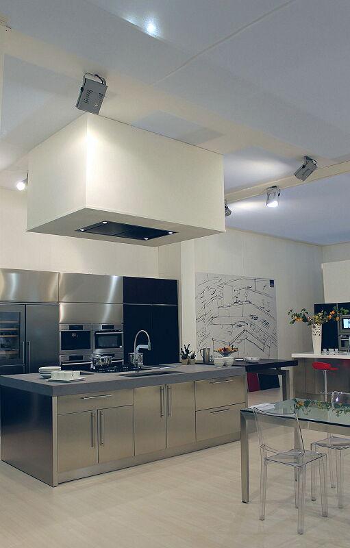 Ark Kitchens Italian Kitchens Milf Stainless Steel Black Barn 1627 186