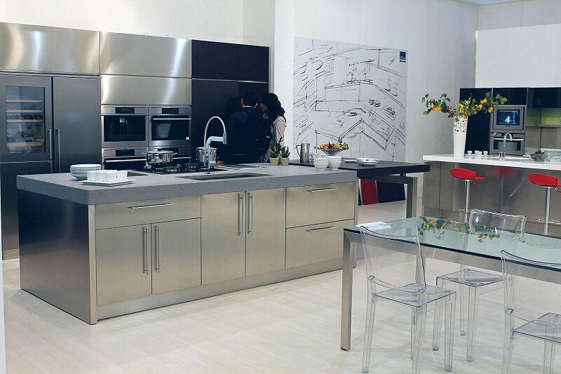 Arca Cucine Italia Cucine Domestiche Acciaio Inox Barn Nera 1630 183