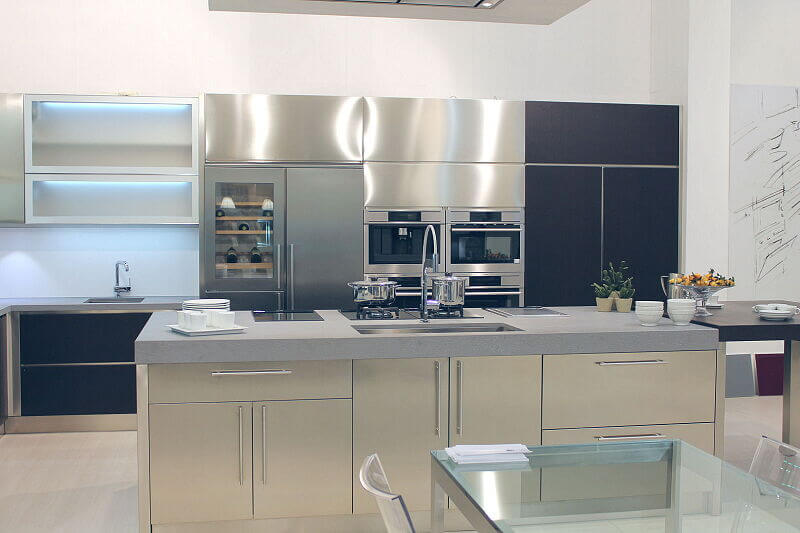 Arca Cucine Italia Cucine Domestiche Acciaio Inox Barn Nera 1631 182